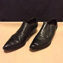 Guess by Georges Marciano Black Leather Western Booties Shoes Woman's Size 9 B Photo