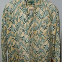 Guess by Georges Marciano Men's 100% Cotton Print Shirt Size Large Photo