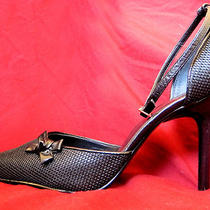 Guess by Marciano Black Elegant Heels With Bow Size 9 1/2 M New Photo
