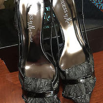 Guess by Marciano Black Lace Pumps Photo