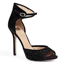 Guess by Marciano Blanche Heel Black Velvet Texture Ankle Cuff Size 10 Photo