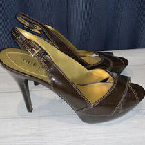 Guess by Marciano Brown Leather High Heels Size 11 Womens Mm1 Photo