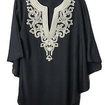 Guess by Marciano Embroidered Top Sz Xs Kaftan Tunic Top Blouse Dress Photo