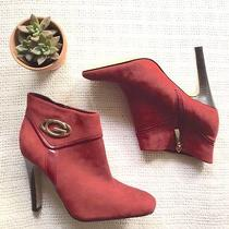 Guess by Marciano Limited Edition Marroon Booties Ankle Boots Size 8 Photo