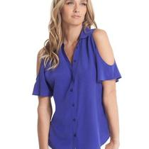 Guess by Marciano Nailyn Shirt  Size Small  100% Silk  Electricity  Photo