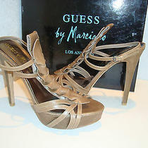 Guess by Marciano New Womens Kristy Taupe Leather Sandals Shoes 10 Medium Photo