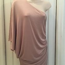 Guess by Marciano One Shoulder Blush Dress Size M Medium Photo