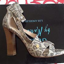 Guess by Marciano Rap High Heel Straps Sandals in Grey Multi Leather Size 8.5 Photo
