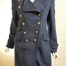 Guess by Marciano Royal Blue Long Wool Jacket Size Medium  Photo