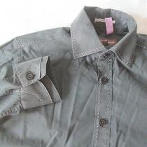 Guess by Marciano Sz M (15-34) Forest Green Button Down Men's Dress Shirt Photo