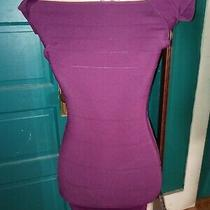 Guess by Marciano Woman Size Small Stretchy Fitted Burgundy Dress Photo