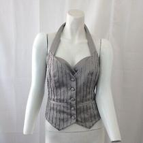 Guess by Marciano Womens Gray Halter Beaded Vest Size 2 Photo