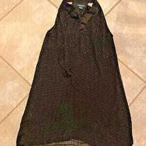 Guess by Marciano Womens Size Xs  Sleeveless Dress Black With Bugle Beading Photo