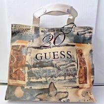 Guess Canvas Tote Bag Celebrating 20 Years  Nwt Photo
