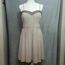 Guess Champagne Nude Bling Strapless Dress Plus 14 Photo