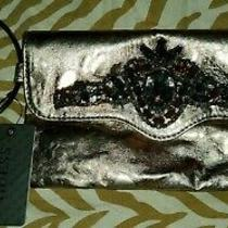Guess Clutch Bag Handbag Gold With Rhinestone New With Tag Photo