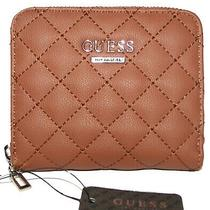 Guess Cognac  Zip-Around Clutch Mini Wallet Nwt Photo