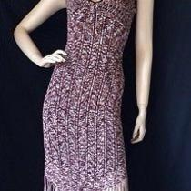 Guess Collection Size S Brown Fringe Dress  Photo