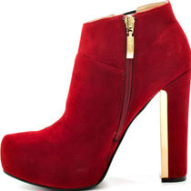 Guess Coreline Shoes Size 6.5 (6 1/2) Dark Red Suede Platform Heels Photo
