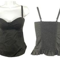 Guess Corset Bustier Crop Top Tank Black Small Bloggers Festival 80s 90s Nwt Vtg Photo