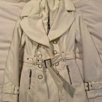 Guess Cream Peacoat With Pockets and Belt Photo