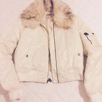 Guess Cream Women's Bomber Jacket Size M Photo