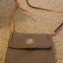 Guess Crossbody Bag Tan With Orange Accent Small Photo