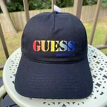 Guess Dad Cap Hat Multicolor Ombre Rainbow Strapback Georges Marciano Red Logo Photo