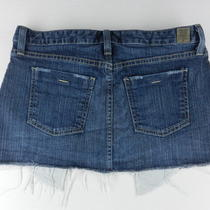 Guess Dark Wash Frayed Hem Stretch Denim Jean Micro Mini Skirt Womens Sz 28 Ssuf Photo