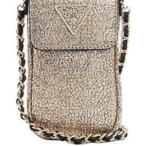 Guess Delon Chit Chat Phone Case Crossbody (Gold) Photo