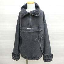 Guess Denim Anno Black Jacket Pullover M13d5863 Mens One-Size-Fits-All Gray Photo