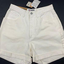 Guess Denim Cream White Mom Jean Shorts Vintage 90s Rare 29 High Waist W/ Tags Photo