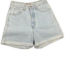 Guess Denim Jean Mom Light Wash Blue Shorts Vintage 80s Rare 29 High Waist  Photo