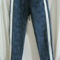 Guess Denim Pants With White Stripe & Drawstring Size Xs (Ac) Photo