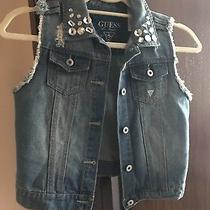 Guess Denim Vest for Girls Size 16 Photo