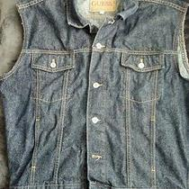 Guess Denim Vest Size Large Photo