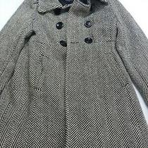 Guess Double Sided Button Pea Wool Coat Size Medium  Photo