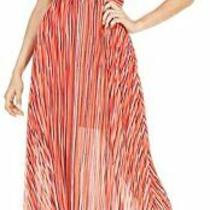 Guess Dress Marrah Maxi Cami Striped Pink Red Sz Xs New Nwt 389 Photo