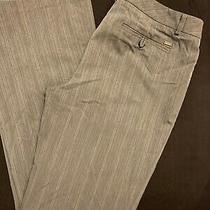 Guess Dress Pants Gray White Stripes Stretch Size 32 Photo