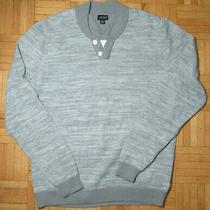 Guess Dress Sweater L Grey Mens Large Photo