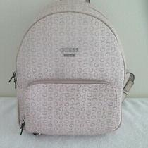 Guess Edmund Signature G Logo Light Rose Pink Backpack Shoulder Bag Aa713830  Photo