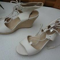 Guess  Espadrille Wedge Sandal Platform Shoe White Size 7.5 M Photo
