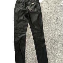 Guess Faux Leather Ladies Trousers Size 27 Black Pants Photo