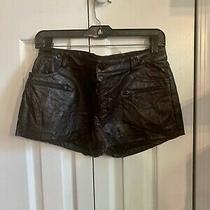 Guess Faux-Leather Super Dressy Party / Nightout Lined Shorts Zip Pockets Sz 4 Photo