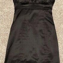 Guess Fitted Bodycon Satin Little Black Dress Lbd Size 2 (Euc) Photo