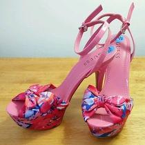 Guess-Fun & Flirty Peep Toe Heel Shoes-Size  7.5m Photo
