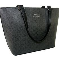 Guess G Logo Tote Purse Shoulder Hand Bag Coal Black Laverne Nwt Photo