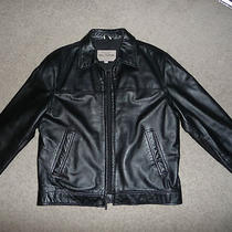 Guess Genuine Leather Jacket (Med) Excellent Condition Photo