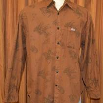 Guess Georges Marciano Long Sleeve Brown Native American Indian Shirt Mens Xl Photo