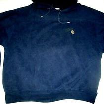 Guess Georges Marciano Vtg 1980s Navy Crest Logo Pullover Hoodie Men's M L Usa Photo